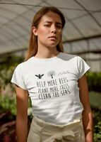 Save the Bee Shirt, Help More Bees Plant More Trees Clean The Seas T-shirt No...