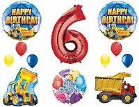 The Ultimate Construction 6th Birthday Party Supplies and Balloon Decorations