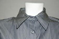 Espirit De Corp Women's Blouse Gray Size M Long Sleeves Collar Cuffs Buttons