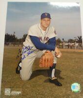 Bob Shaw Autographed MLB Photo with COA Mets TJ1