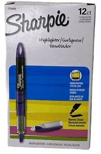 Sharpie Liquid Pen Style Highlighter, Narrow Chisel Fluorescent PURPLE, 12 Count