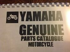 YAMAHA RD 250 E PARTS LIST MANUAL CATALOGUE 1978 paper bound copy.