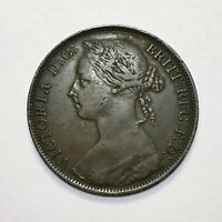 1886 Great Britain Penny, Queen Victoria, KM# 755, Very Nice!
