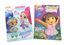 Shimmer and Shine Dora the Explorer Kids Coloring Book Activity Books Set of 2