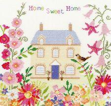 BOTHY FILETS HOME SWEET HOME AVEC DES FLEURS POINT DE CROIX KIT - NEUF XSS5