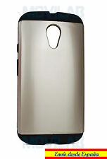 Funda / Carcasa Motorola Moto G2 - XT1068 antigolpes tipo slim armor dorada