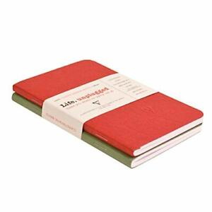 Clairefontaine Staplebound Duo - Ruled 48 sheets - 3 1/2 x 5 1/2 - Red/Green