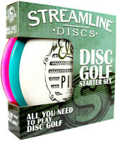 Streamline Premium Disc Golf Starter 3 Disc Set Putter Midrange Driver (Assorted