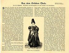 Aus dem Grödner Thale in Tirol. Reise-Report m.Aufnahmen von 1900