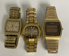 Lot Of 3 SEIKO MEN'S GOLD PLATED DIAL AUTOMATIC WATCH