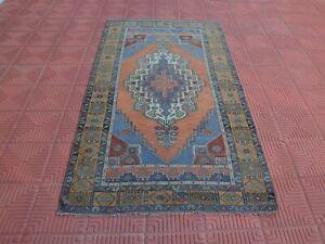 Vintage Rugs, Tapis Berber, Vintage Turkish Rug, Blue Rug, Persian Style Rug Des