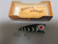 Hard to Find USA Made Older Bomber Popper,1/4oz.#02 Black,Chugger Style Topwater