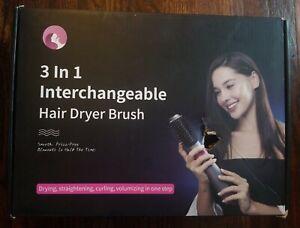 INTERCHANGEABLE 3 IN 1 HAIR DRYER BRUSH VERSATILE STYLING