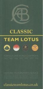 Classic Team Lotus Information & Accessories Brochure