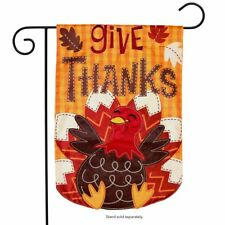 "Turkey Thanksgiving Applique Garden Flag Holiday 12.5"" x 18"" Briarwood Lane"