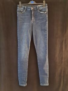 Vera Moda Tall Skinny Jeans In Blue ~ Large ~ Leg 36 W30 ~ High waisted ~ VGC