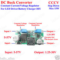 DC 5V 12V 24V 3A Constant Current Voltage LED Driver Buck Step-Down Power Supply