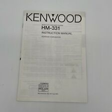 Kenwood HM-331 Official Instruction Manual Guide