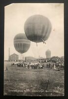 1908 Berlin Germany RPPC Postcard Cover To Leipzig International Balloon Fair