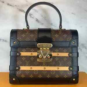 NEW Authentic Louis Vuitton Trianon PM Trunk bag Monogram Wood LV crossbody tote