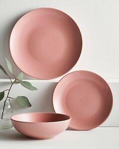 Buxton 16 Piece Blush Pink Stoneware Dinnerset