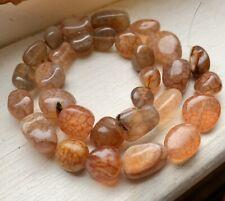 "14"" Strand Medium Red Dragon Vein Nugget Gemstones, 7-17mm, 30 Beads"