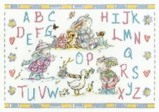 Somebunny Seasons Sampler Counted Cross Stitch Kit by DMC Alphabet Rabbit