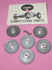 45 Tooth Factory Dealer Bags of 6 Spur Gears by COX Original Slot Car NOS #3825