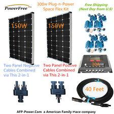MonoPlus Solar Cells Two 150w Watt Panels 300w 300 Watt Kit 12v Battery RV Boat