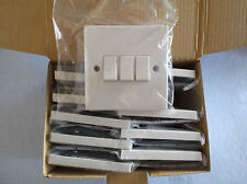 BOX OF TEN! 10AMP MAX 3 GANG PLATE SWITCH 2 WAY STANDARD WHITE BY BG ELECTRICAL