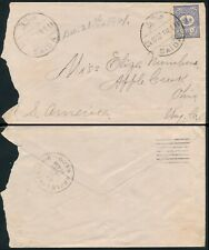 LEBANON - SAIDA 1901, OTTOMAN SCARCE COVER TO U.S.A.  #Z878