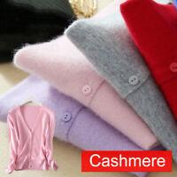 Fashion Womens Slim elastic Knitted Cardigan V-Neck Cashmere wool Jumper Sweater
