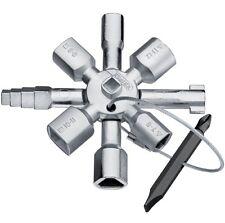 CLE MULTIFONCTION 10E KNIPEX TWINKEY ZONE TECHNIQUE ARMOIRE EAU GAZ ELECTRICITE