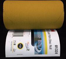 """New 3M Stikit Gold Film Disc Roll 255L P120 Grade 75 Discs per Roll 6"""" 01331"""