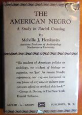Very Rare 1930 American negro: A study in racial crossing Dust Jacket Herskovits