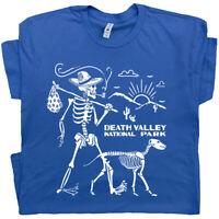 Death Valley T Shirt Skeleton Hiking Men Hiker Camping National Park Joshua Tree