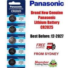 5 x PANASONIC CR2025 3V LITHIUM BUTTON COIN BATTERY BRAND NEW/GENUINE (12/2027)