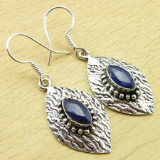 Earrings 4.7 cm On Trend Bijoux Global Look 925 Silver Plated Simulated Sapphire