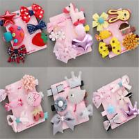 6PCS Hairpin Baby Girl Hair Clip Bow Flower Mini Barrettes Kids Infant Set Gift