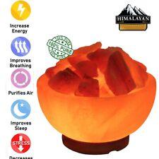Himalayan USB Salt Crystal Fire Bowl Rock Lamp Night Light Healing Table Lamps