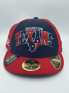 Houston Texans New Era 59Fifty NFL On Field Sideline 2002 Fitted Sz 7 Cap Hat
