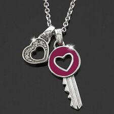 ESPRIT Halskette Damen Kette Collier 925 Silber LOVE PASSION Schmuck Zirkonia