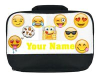 EMOJI PERSONALISED SCHOOL, WORK'S COLLAGE, ETC LUNCH DINNER BOX / BAG NAMED GIFT