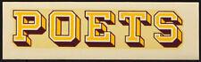 Whittier College Poets _RARE ORIGINAL_ 1940's Decal vtg NCAA sticker California