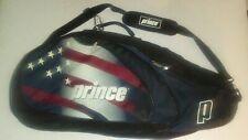 Prince Stars and Stripes Tennis Racket Bag American Flag Print Multi Pocket Rare