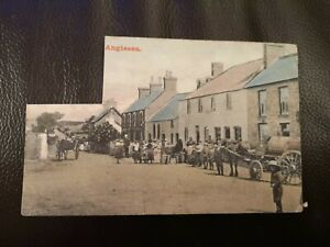 Postcard Anglesey, Pen Dre Street, Newborough,  early 1900's. ( stamp removed).