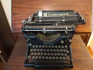 VTG Antique 1920s Underwood Standard Typewriter No 5,  WORKS