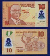 NIGERIA 10 NAIRA 2010 P33 UNC POLYMER ES-4