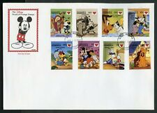 DOMINICA  DISNEY  DREAM  KISS  1997  SET  FIRST DAY COVER
