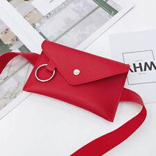 Women Girls PU Leather Waist Fanny Pack Belt Waist Bag Chest Bags Purse Wallet
